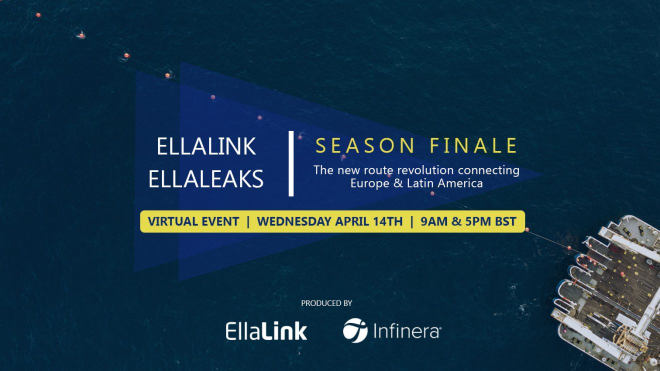 EllaLink announces the live, virtual and interactive Season Finale of their EllaLEAKS series on 14 April 2021 in two sessions at 10am and 6pm CEST