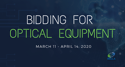 RedCLARA and BELLA-T announce new bidding for acquiring optical equipment.