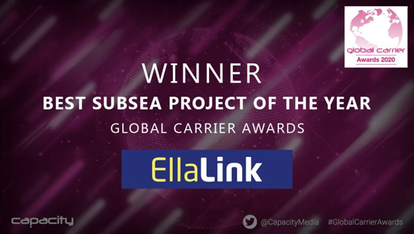 EllaLink repeats success at Global Carrier Award as Best Subsea Project of the Year